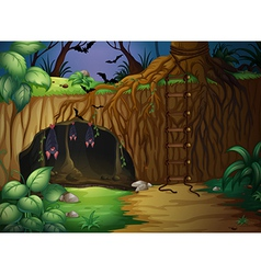 A cave and bats vector image vector image