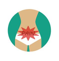 abdominal pain vector image