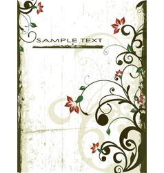 antique floral grunge background vector image vector image