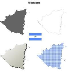Nicaragua outline map set vector