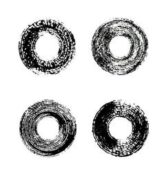 set of black grunge circles vector image vector image