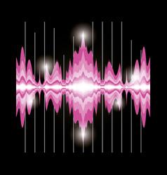 sound wave design vector image vector image
