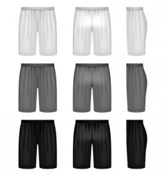 vector shorts shades of gray vector image vector image