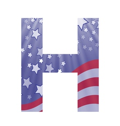 american letter H vector image