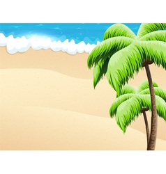 Beach with palm trees vector image vector image