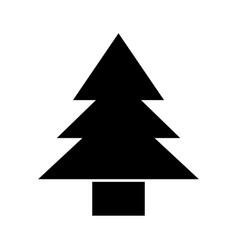 Black icon cute tree cartoon vector