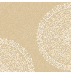 doilies on beige background vector image
