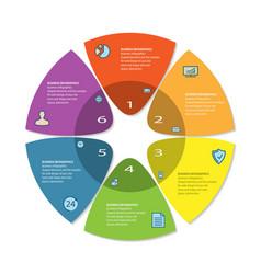 process chart abstract circle business options vector image vector image
