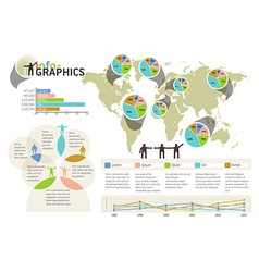 Set of infographic elements Visual statistic vector image