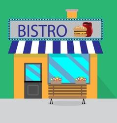 Building bistro cartoon style vector image vector image