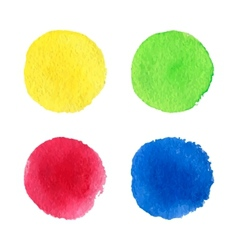 Four watercolor dots vector image