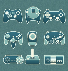 Retro Video Game Remote Controls vector image