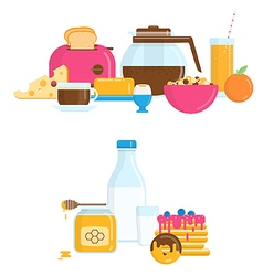 with Healthy Breakfast vector image vector image