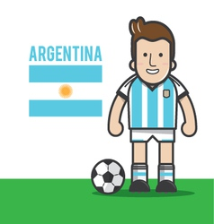ARGENTINA-soccer-player vector image vector image