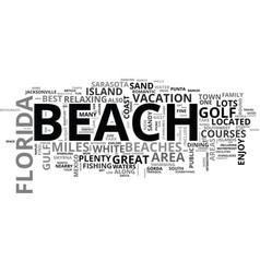 best florida beaches text word cloud concept vector image
