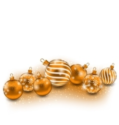 Cute Christmas Balls Isolated on White Background vector image