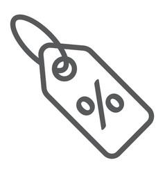 discount percent tag line icon e commerce vector image