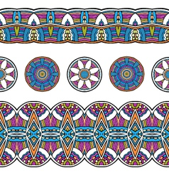 ethnic mexical peru tribal seamless border pattern vector image