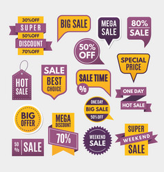 modern labels ribbons and tags for advertising vector image
