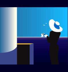 quiet night vector image