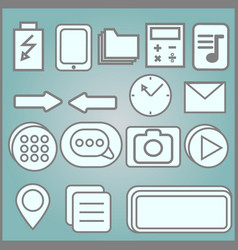 quote asterisk footnote icons hashtag social vector image