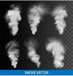 Realistic transparent smoke steam vector image vector image
