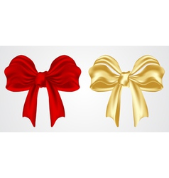 set of holiday bow vector image vector image