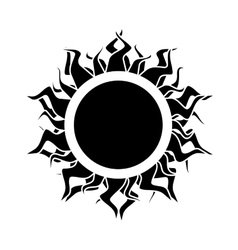 Abstract isolated black sun vector
