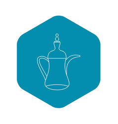arabic coffee pot icon outline style vector image