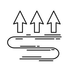 Arrows up temperature icon vector