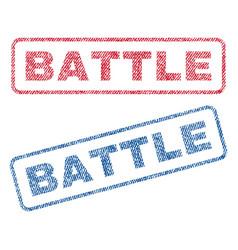 Battle textile stamps vector