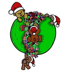 Bear doodle cartoon vector
