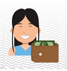 business person with wallet isolated icon design vector image