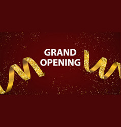 celebration grand opening banner with gold vector image