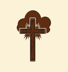 christian cross in the clouds vector image