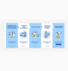 Competition-distorting policy onboarding template vector