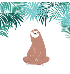 cute sloth sitting vector image