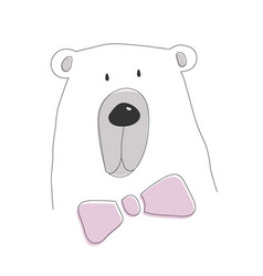cute white bear vector image