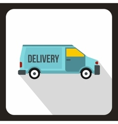 Delivery car logo flat style vector