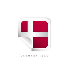 Denmark label flags template design vector