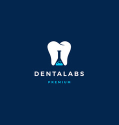 Dental labs logo icon in negative space style vector