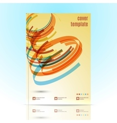 Design for Cover Layout in A4 size vector image