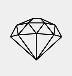 Diamond icon expensive gift vector