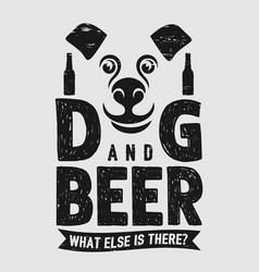 Dog and beer pet animal beer drink soulmate vector