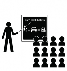 Drink drive lecture vector