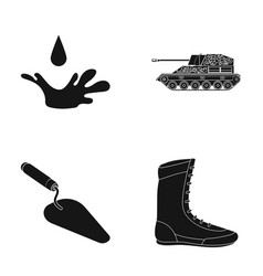 Drop tank and other web icon in black style vector