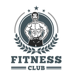 Fitness club muscle logo image vector