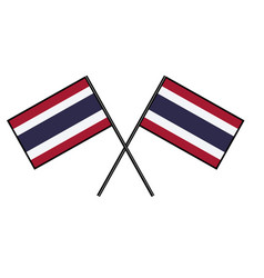 Flag of thailand stylization of national banner vector