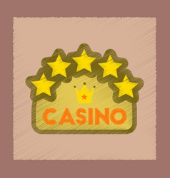 flat shading style icon casino sign vector image
