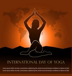 for international day yoga vector image